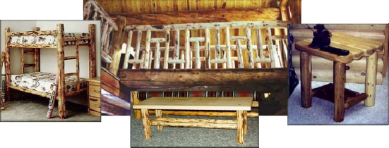 Just a Few Samples of Log Furniture you can make!